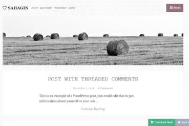 Шаблон WordPress в стиле минимализма