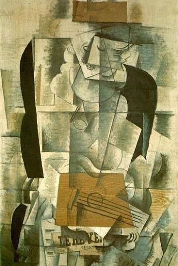 Жорж Брак. Женщина с гитарой, 1913