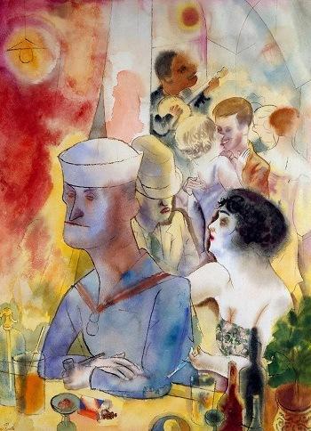 Георг Гросс. В кафе, 1930-е