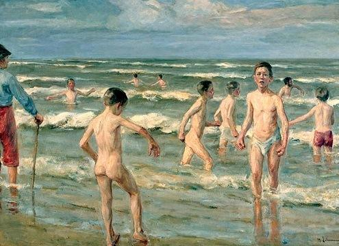 Макс Либерман. Купающиеся мальчики, 1900