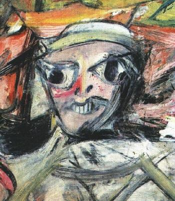 Виллем де Кунинг. Женщина, 1, 1950-52