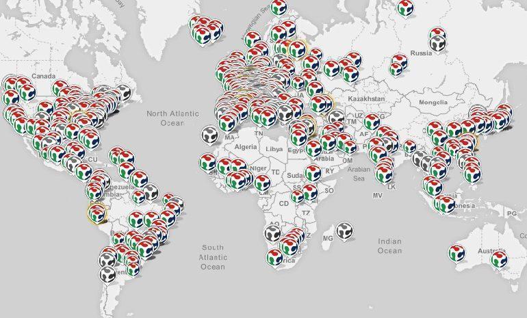 Фаблабы на карте