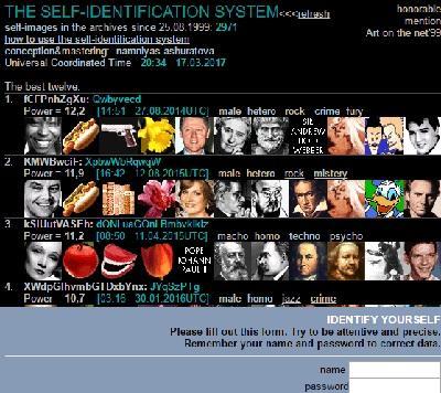 интерактивный нет-арта проект на тему самоидентификации namniyas.velikanov.ru/ident/