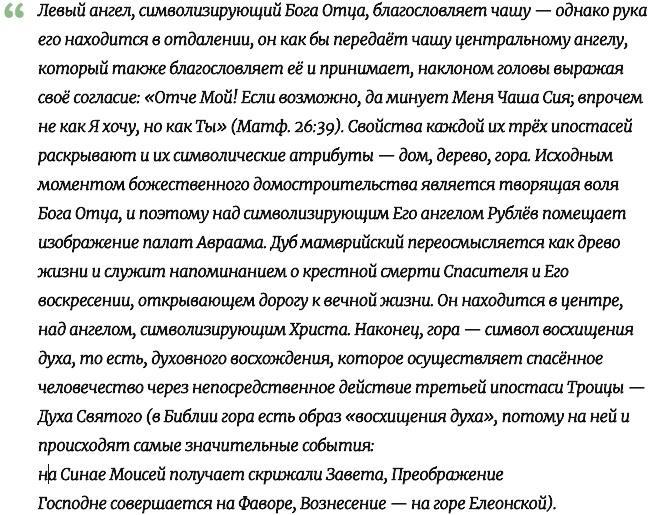 Андрей Рублев описание иконы Троица кратко