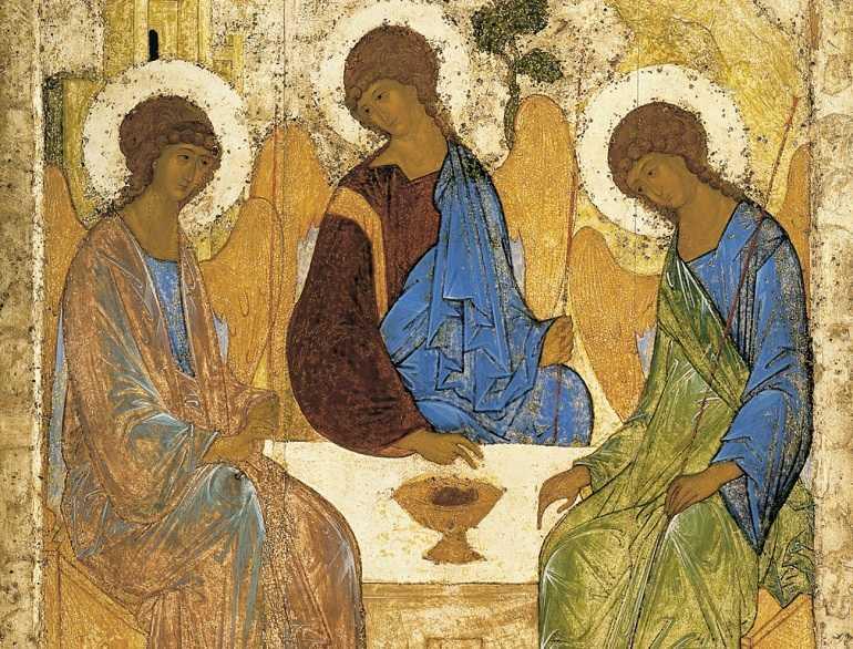 Икона Троица Андрея Рублева