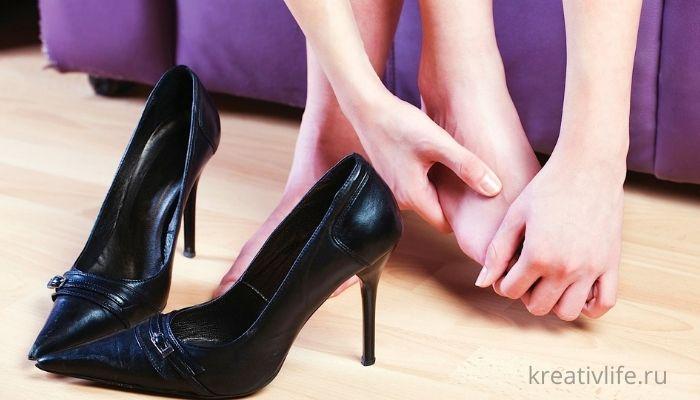 Ноги к вечеру стали, неудобная обувь