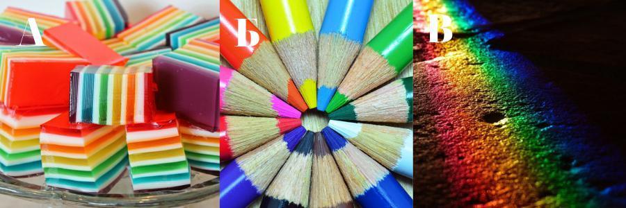 Картинка психологического теста, сочетание цветов